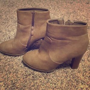 Brown Booties size 7 1/2